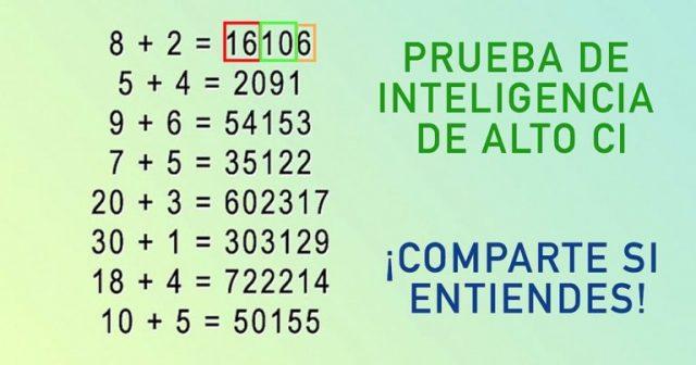 Prueba si tu eres un genio: Esta simple ecuación de matemática te puede decir si en realidad eres un genio. #Comparte con tus amigo para que puedan ponerse a prueba.