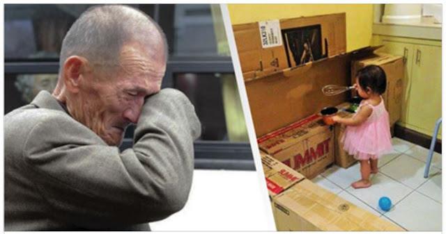 No tenía dinero para darle un regalo a su hija, pero mira lo que le hizo con estas cajas de cartón
