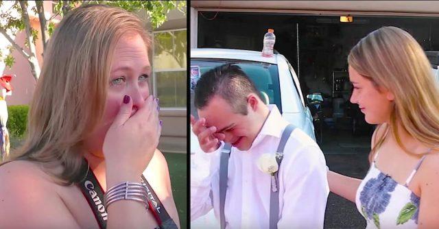 Su hijo fue rechazado por todos antes del baile. Entonces una extraña se convirtió en su pareja...